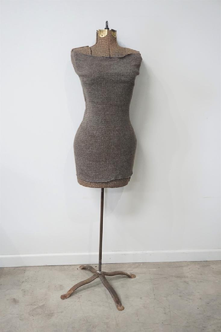 VINTAGE FEMALE DRESS FORM ON STAND