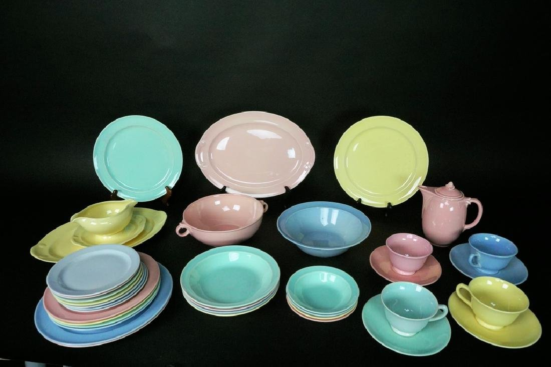 38pc LU-RAY PASTEL DINNER WARE 6pc SERVICE FOR 4