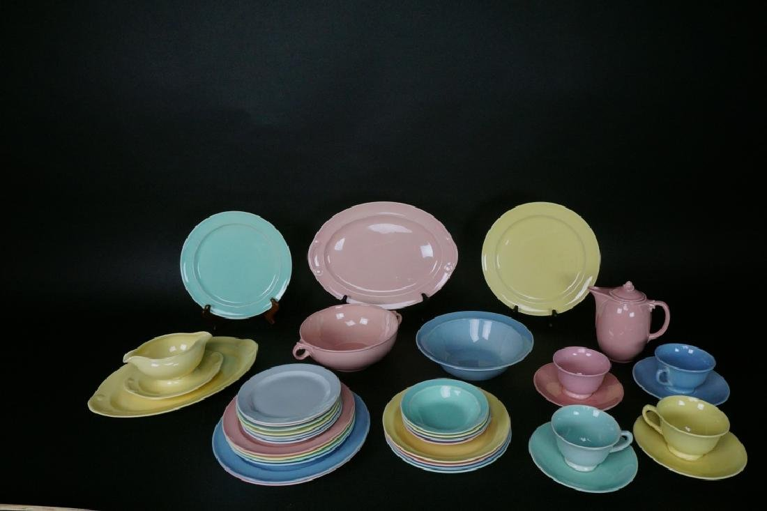 38pc LU-RAY PASTEL DINNER WARE 6pc SERVICE FOR 4 - 2