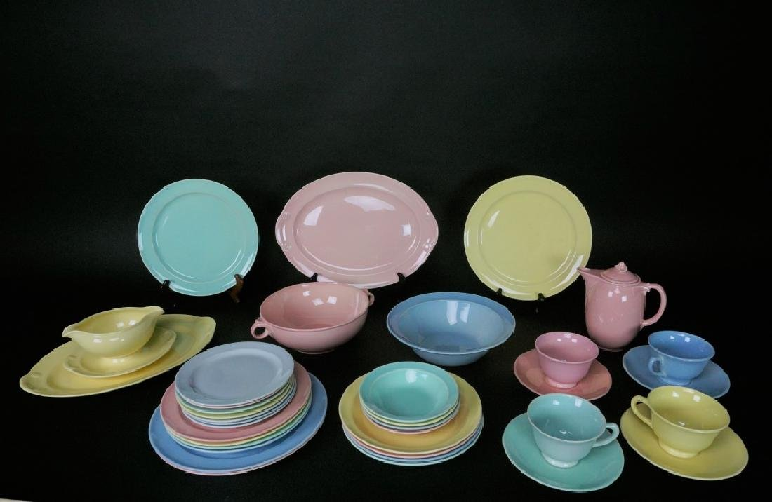 38pc LU-RAY PASTEL DINNER WARE 6pc SERVICE FOR 4 - 3