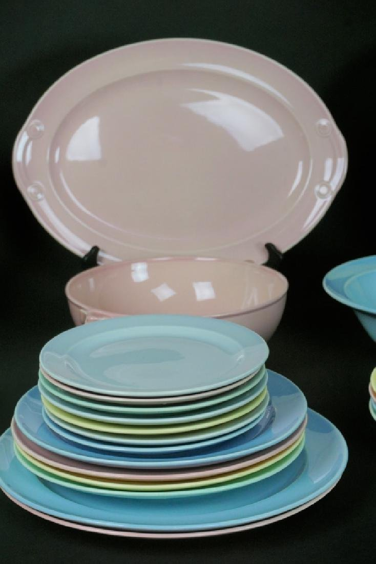 38pc LU-RAY PASTEL DINNER WARE 6pc SERVICE FOR 4 - 4