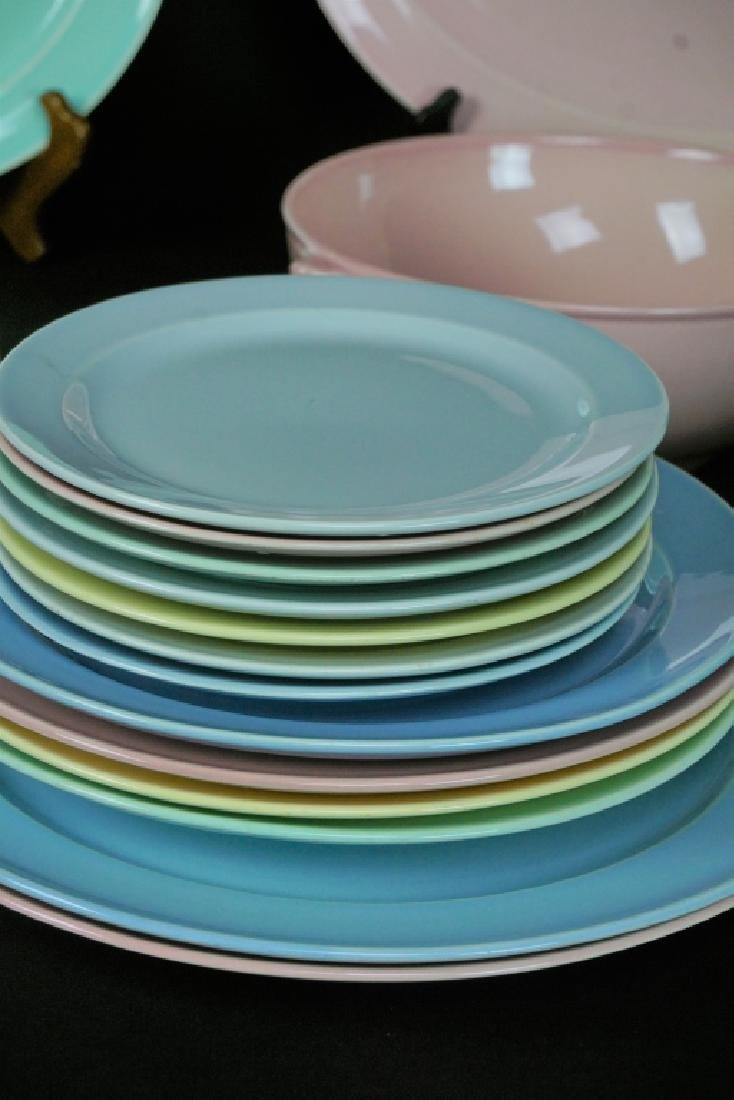 38pc LU-RAY PASTEL DINNER WARE 6pc SERVICE FOR 4 - 5