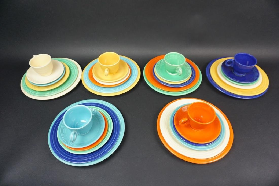36pc VINTAGE FIESTAWARE 6pc SERVICE FOR 6