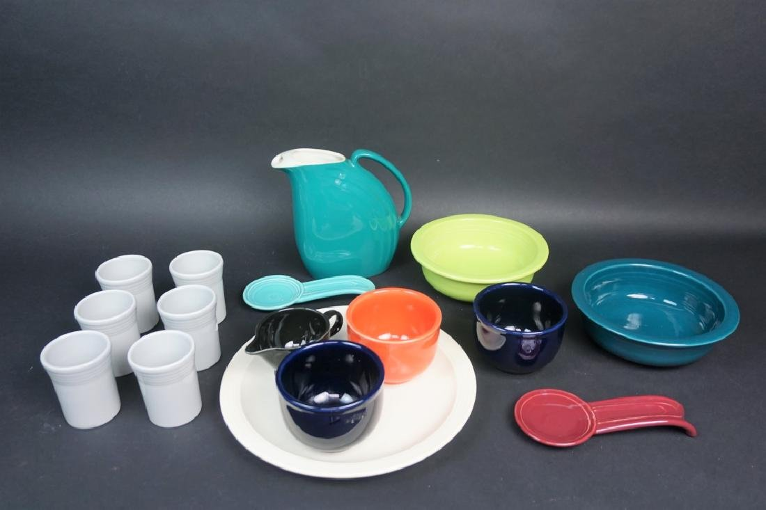 16pcs ASSORTED FIESTAWARE & FIESTA STYLE POTTERY