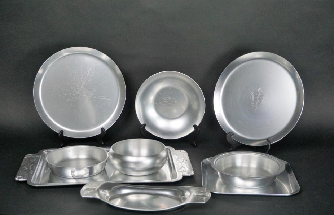 9pcs ASSORTED KENSINGTON ALUMINUM WARE