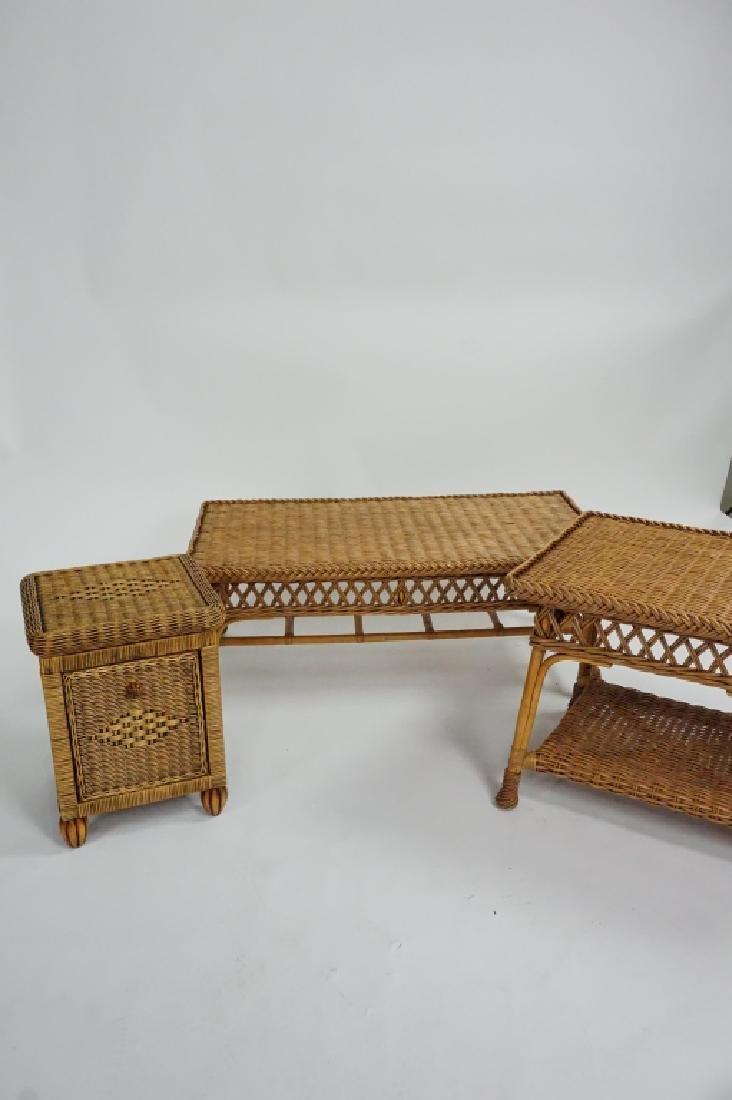 3pcs ASSORTED WICKER PATIO FURNITURE