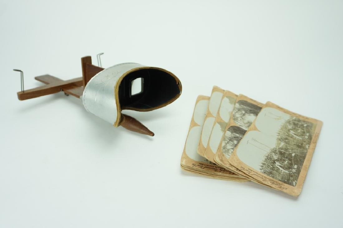 1907 UNDERWOOD STEREOSCOPE WITH (11) CARDS
