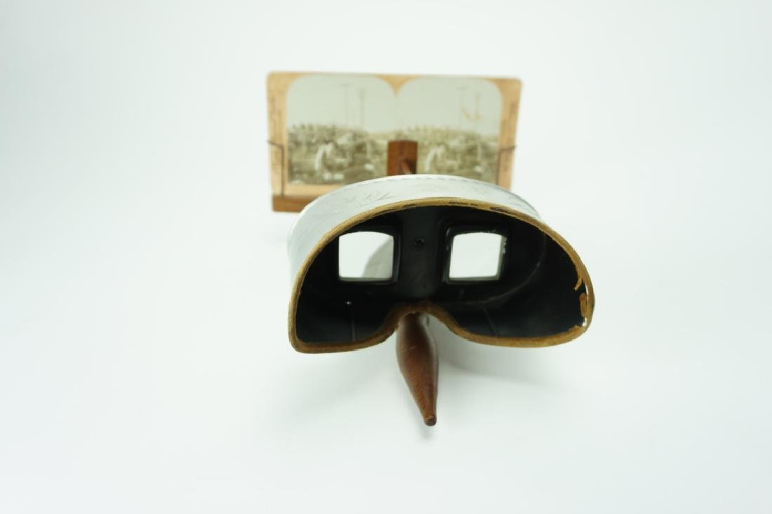 1907 UNDERWOOD STEREOSCOPE WITH (11) CARDS - 6