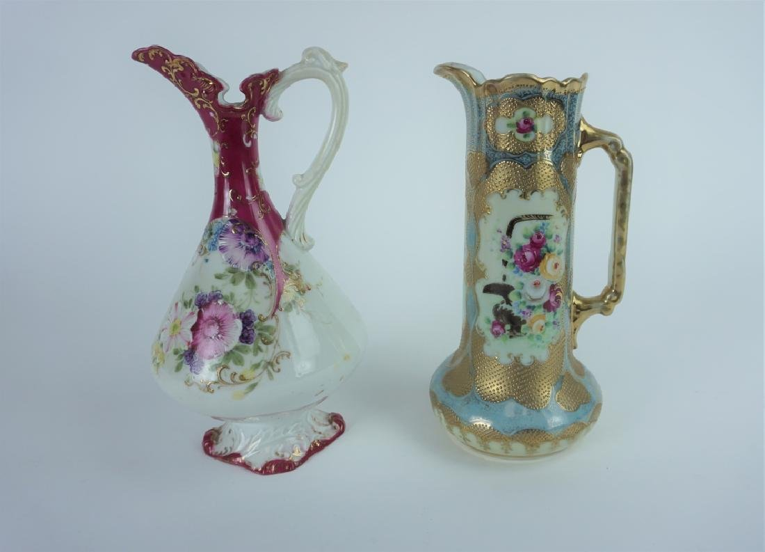 (2) ANTIQUE POTTERY PITCHERS