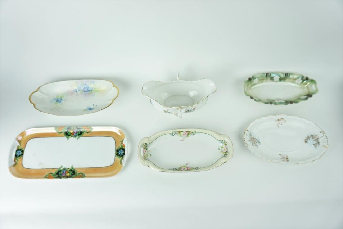 6pcs ASSORTED PORCELAIN SERVING DISHES