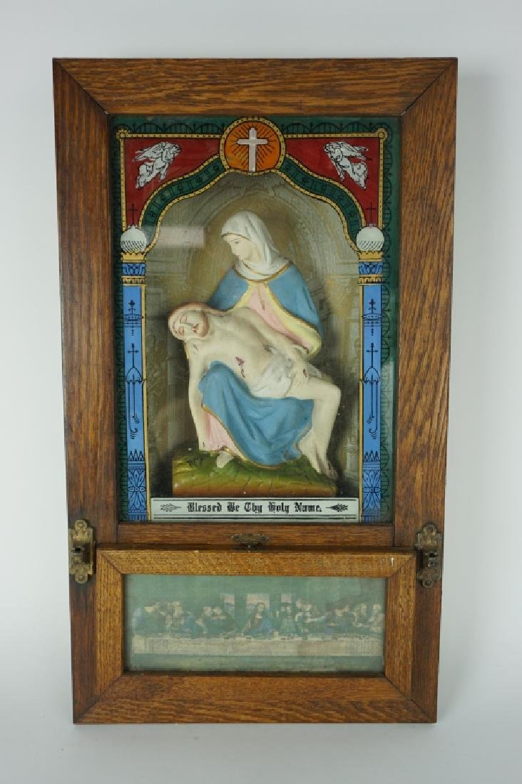 VINTAGE CATHOLIC SICK CALL LAST RITES BOX