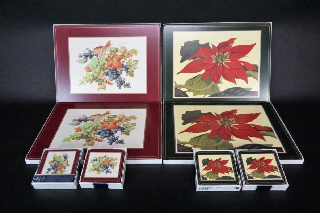(8) BOXES OF PIMPERNEL PLACEMATS AND COASTERS