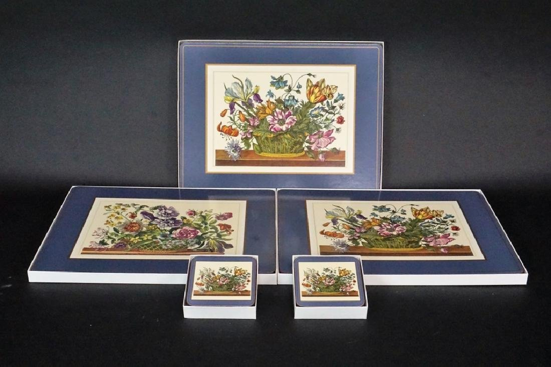(5) BOXES OF PIMPERNEL PLACEMATS AND COASTERS