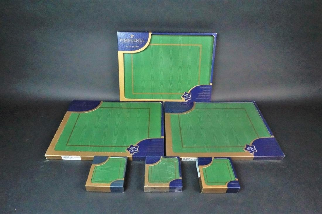 (6) BOXES OF PIMPERNEL PLACEMATS AND COASTERS