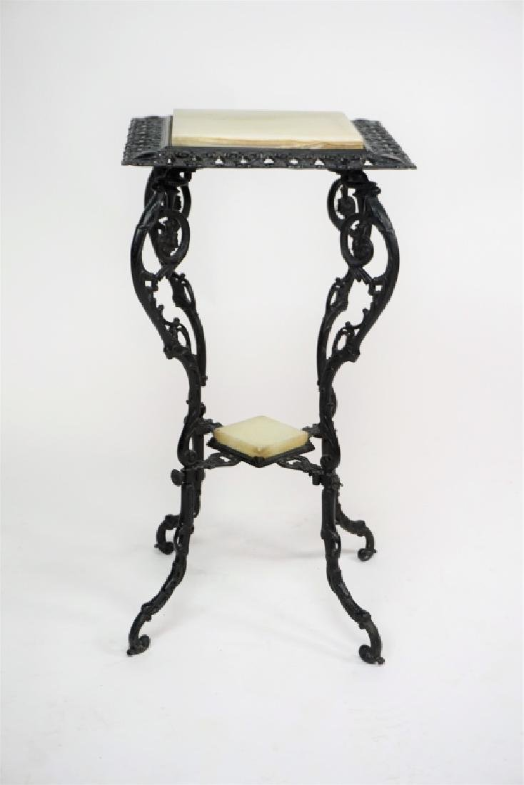 VINTAGE 2-TIER IRON PLANT STAND