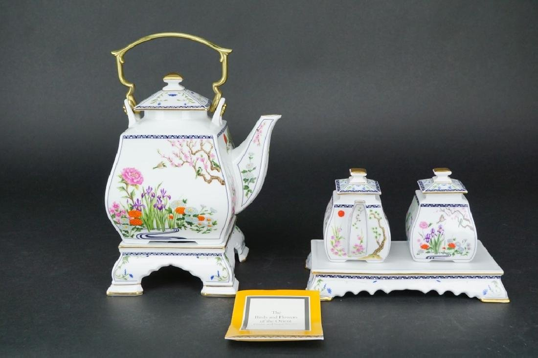 5pc FRANKLIN MINT PORCELAIN TEA SET