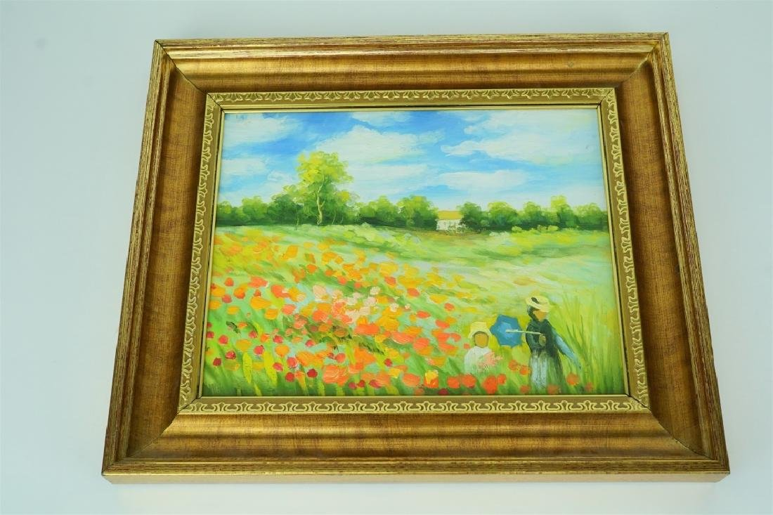 """COQUELICOTS"" CLAUDE MONET RE-CREATION"