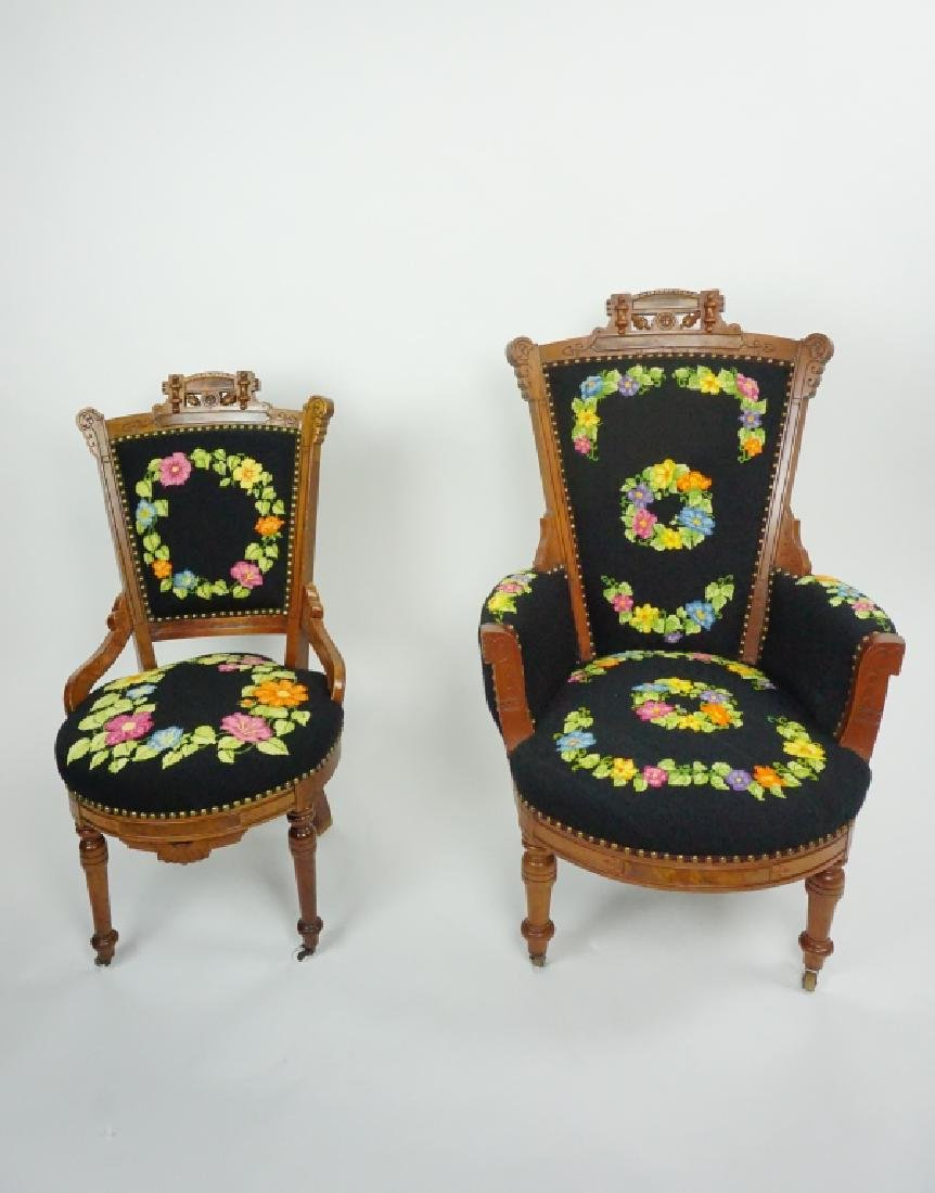 (2) VICTORIAN EASTLAKE STYLE CHAIRS