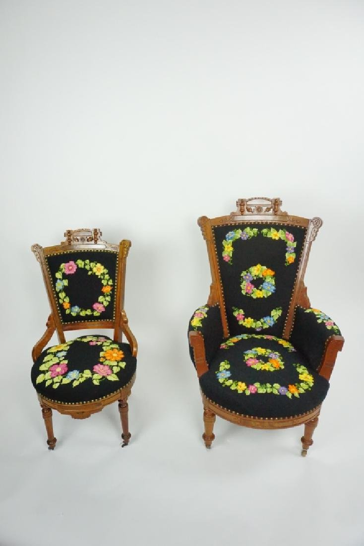 (2) VICTORIAN EASTLAKE STYLE CHAIRS - 2