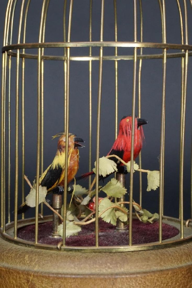 VINTAGE BRASS BIRD CAGE MUSIC BOX - 2