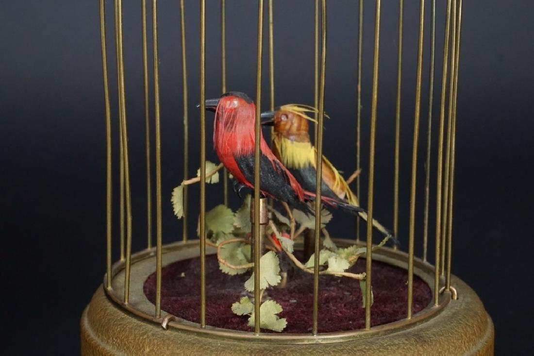 VINTAGE BRASS BIRD CAGE MUSIC BOX - 5