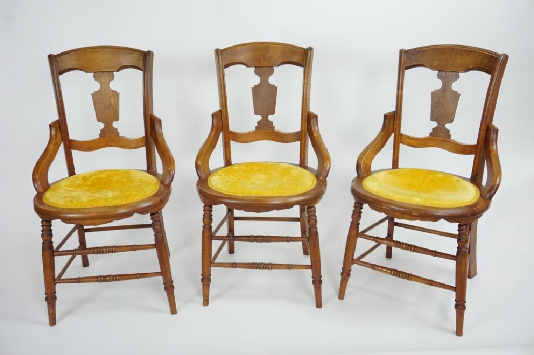 (3) ANTIQUE VICTORIAN SIDE CHAIRS