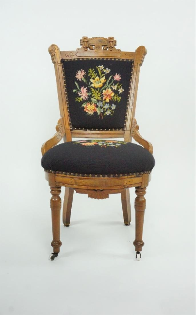 ANTIQUE VICTORIAN EASTLAKE STYLE SIDE CHAIR