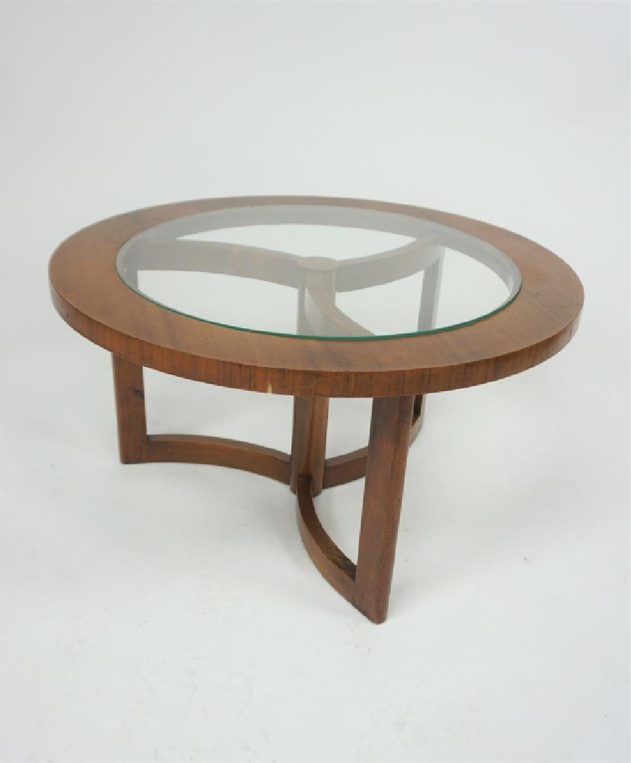 ART DECO GLASS INSERT COFFEE TABLE