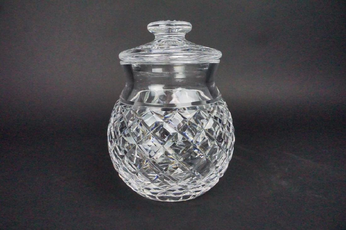 VINTAGE WATERFORD GLANDOR CRYSTAL BISCUIT JAR