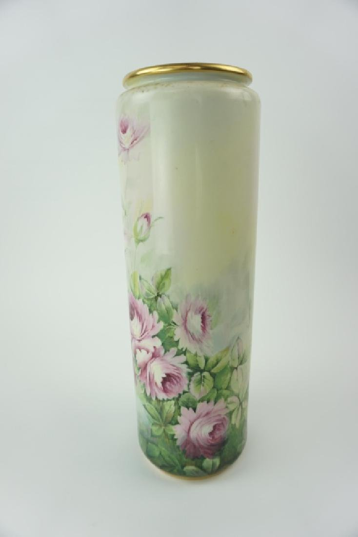 ANTIQUE BELLEEK WILLETS TALL FLOWER VASE