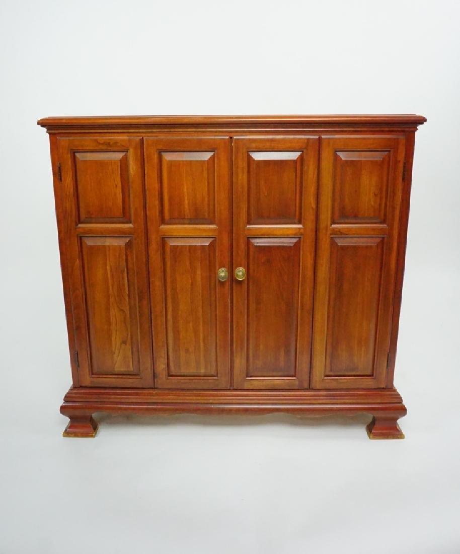 VINTAGE CHERRY BI-FOLD DOOR HALL CABINET
