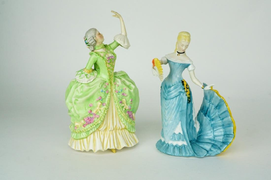 (2) FRANKLIN PORCELAIN FIGURINES