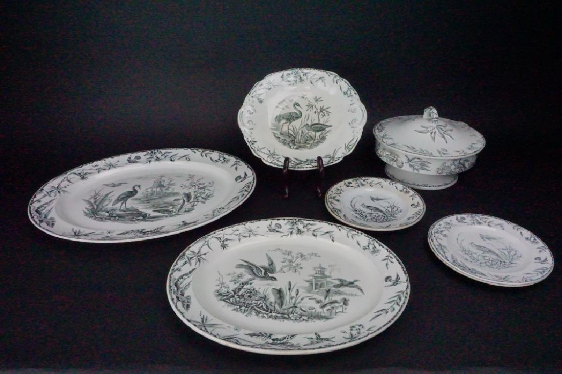 7pcs ANTIQUE RIDGWAYS IRON STONE SERVING DISHES