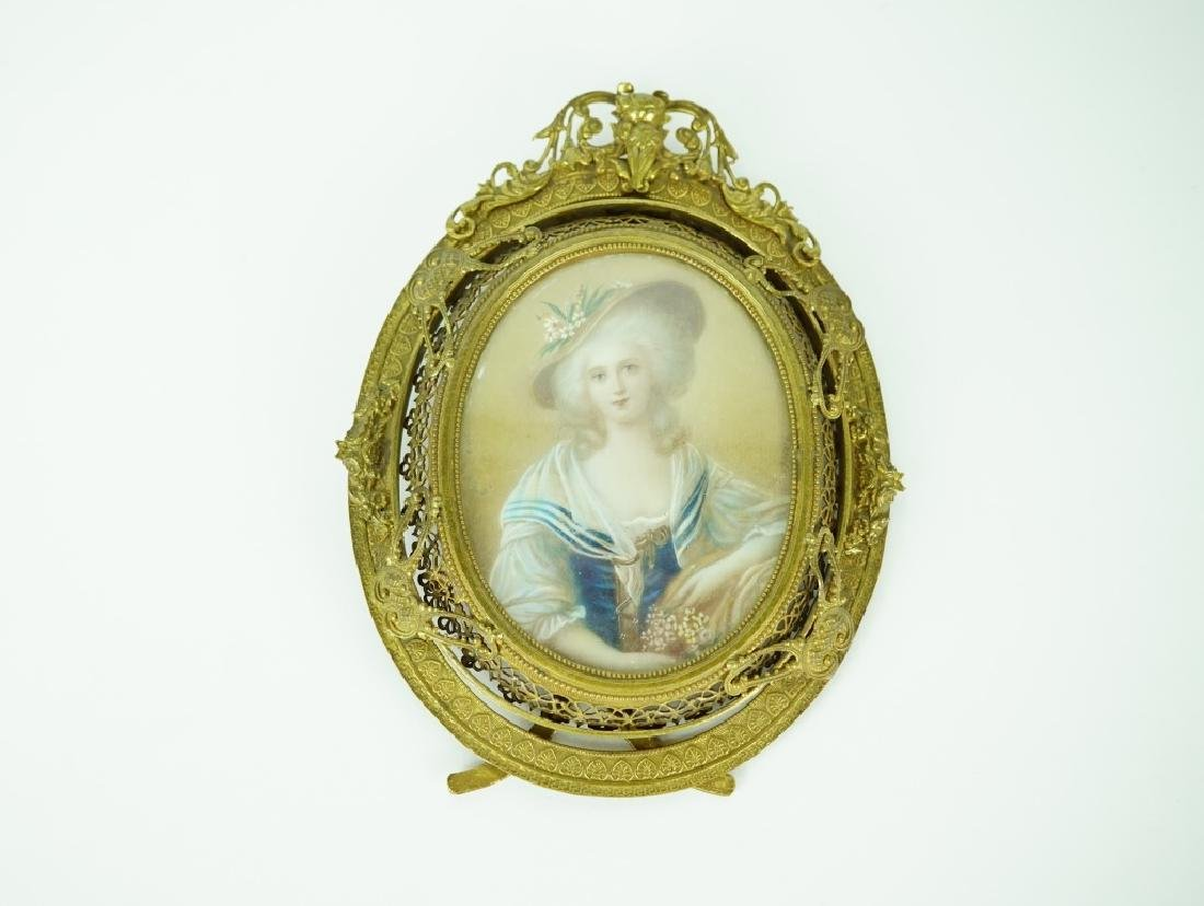 19TH CENTURY MINIATURE WATERCOLOR PORTRAIT