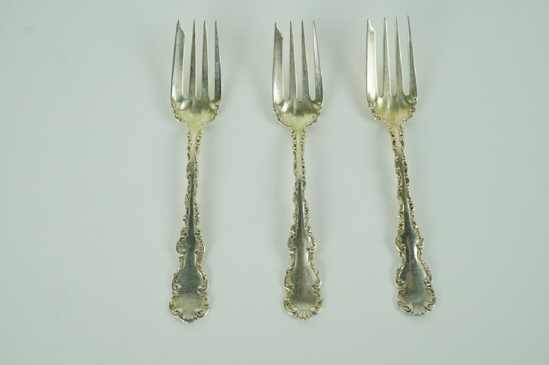 (3) STERLING SILVER COLD MEAT FORKS BY WHITING