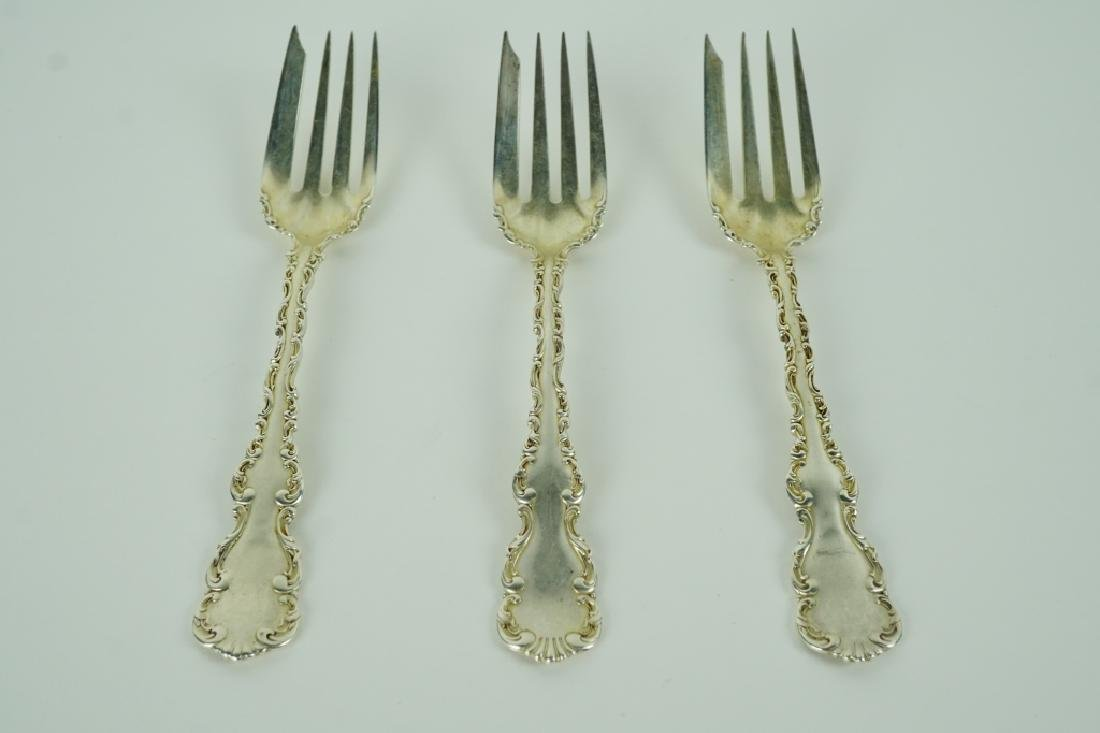 (3) STERLING SILVER COLD MEAT FORKS BY WHITING - 2
