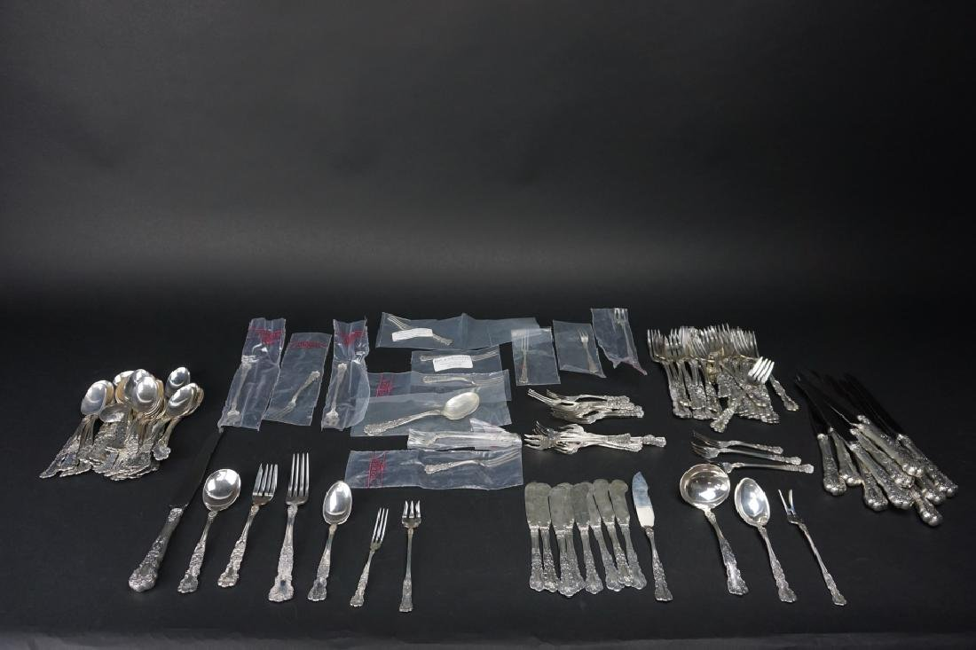 "114pc GORHAM ""BUTTERCUP"" STERLING FLATWARE"