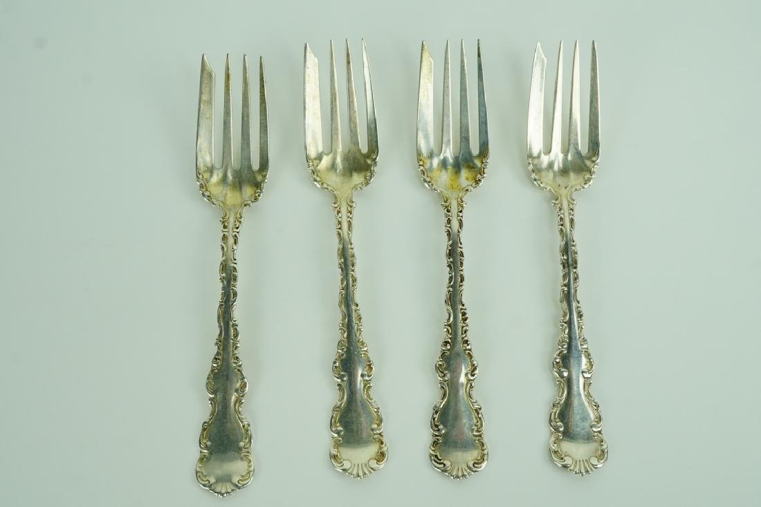 (4) WHITING STERLING SILVER COLD MEAT FORKS
