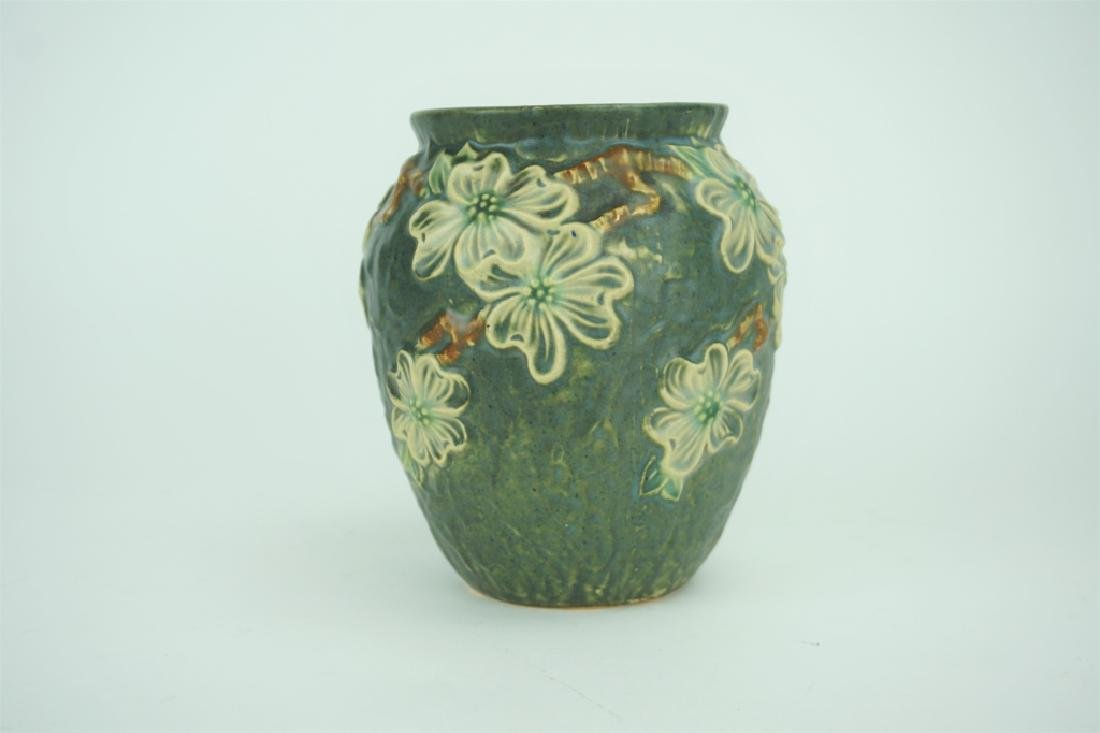 ANTIQUE ROSEVILLE POTTERY DOGWOOD I VASE