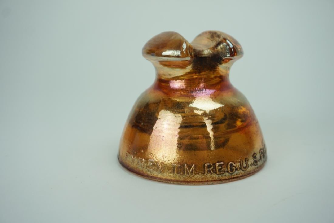 VINTAGE PYREX #63 CARNIVAL GLASS INSULATOR