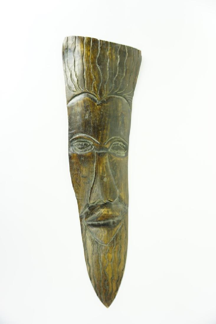 VINTAGE FOLK ART CARVED WOOD FACE