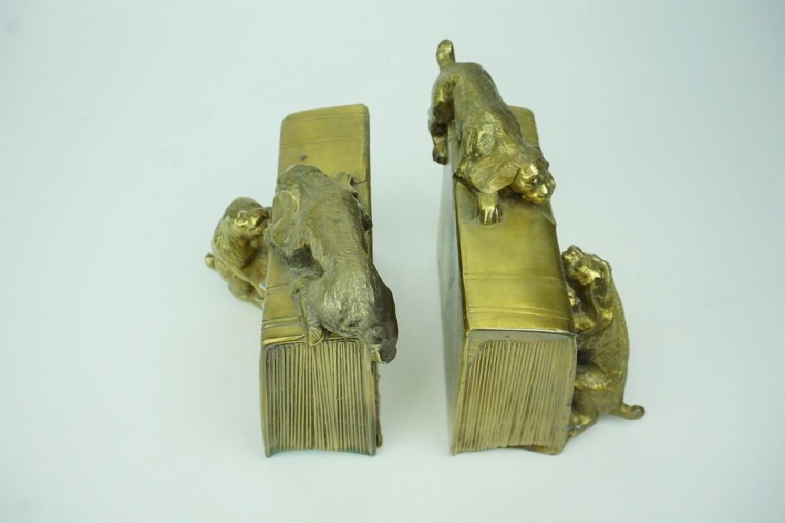 PAIR ANTIQUE PM CRAFTSMAN BOOKENDS