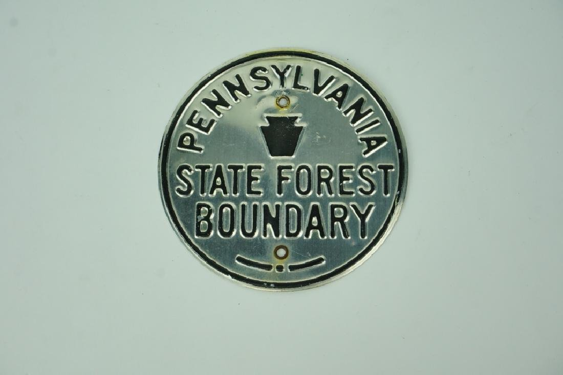 VINTAGE PENNSYLVANIA STATE FOREST BOUNDRY SIGN