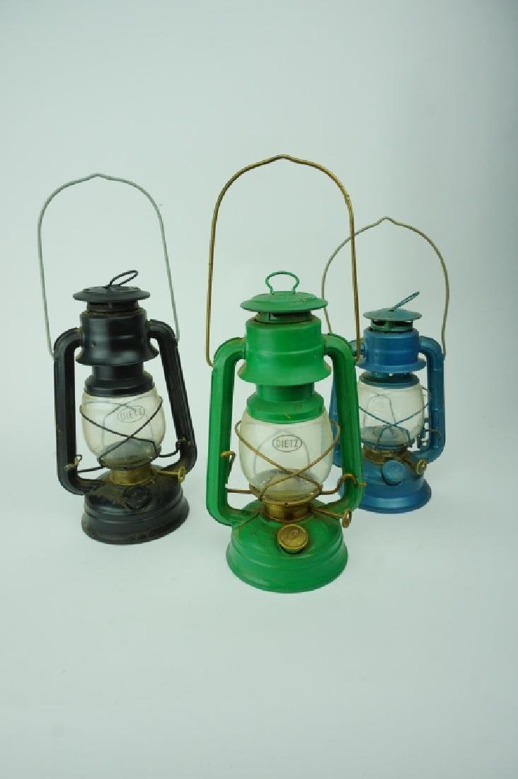 (3) ASSORTED DIETZ LANTERNS