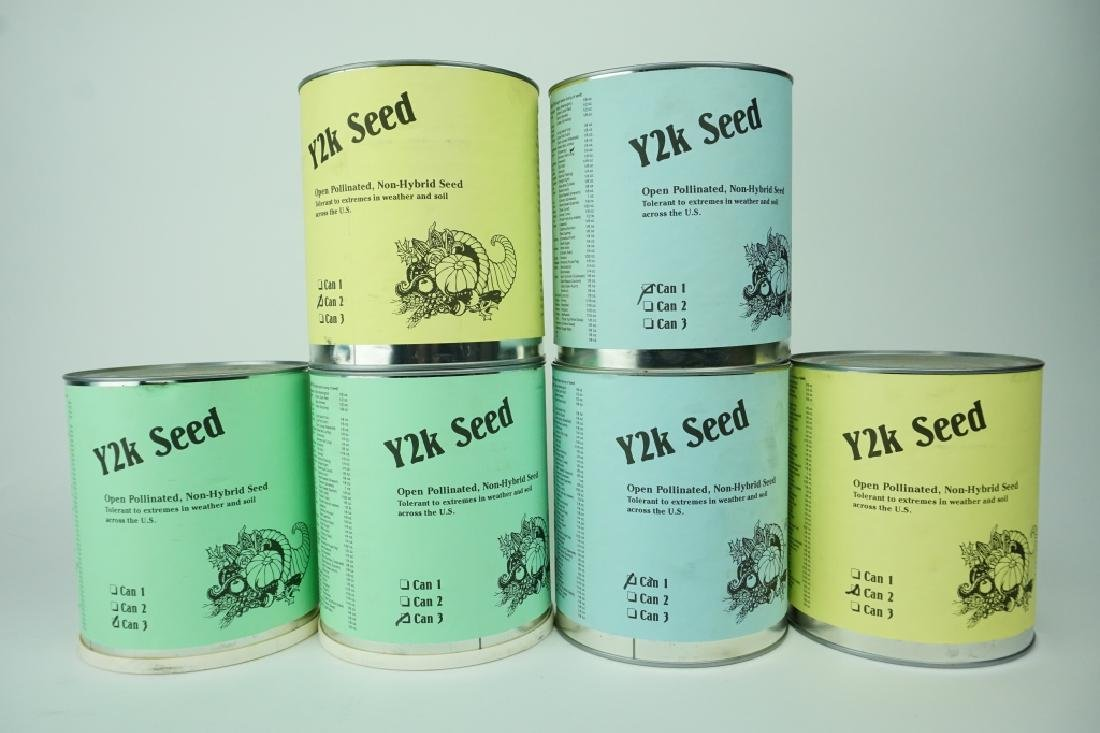 (6) CANS OF Y2K AGRICULTURAL SEEDS