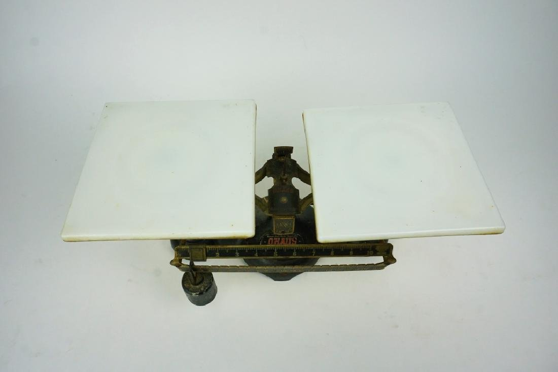 ANTIQUE OHAUS DOUBLE BEAM BALANCE SCALE - 2