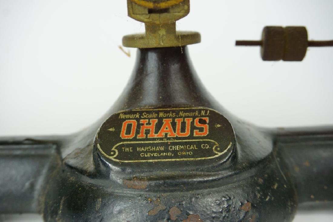 ANTIQUE OHAUS DOUBLE BEAM BALANCE SCALE - 3