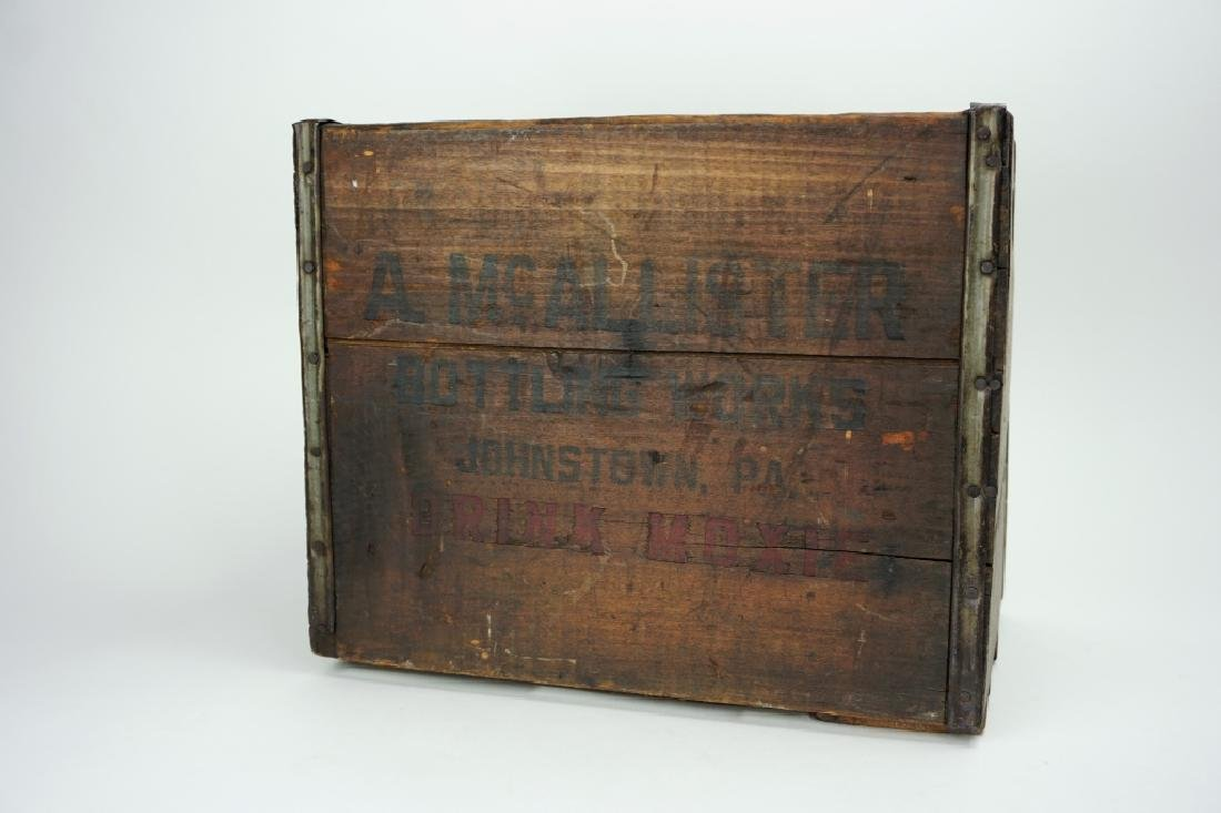 A. McALLISTER BOTTLING WORKS MOXIE CRATE