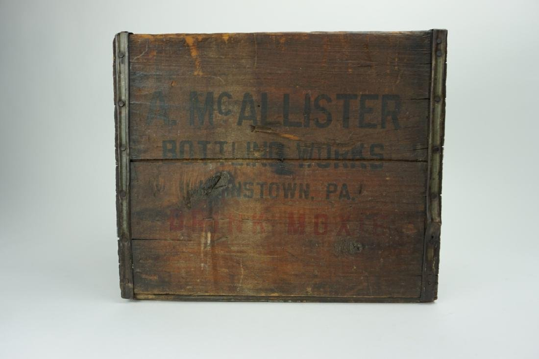 A. McALLISTER BOTTLING WORKS MOXIE CRATE - 4