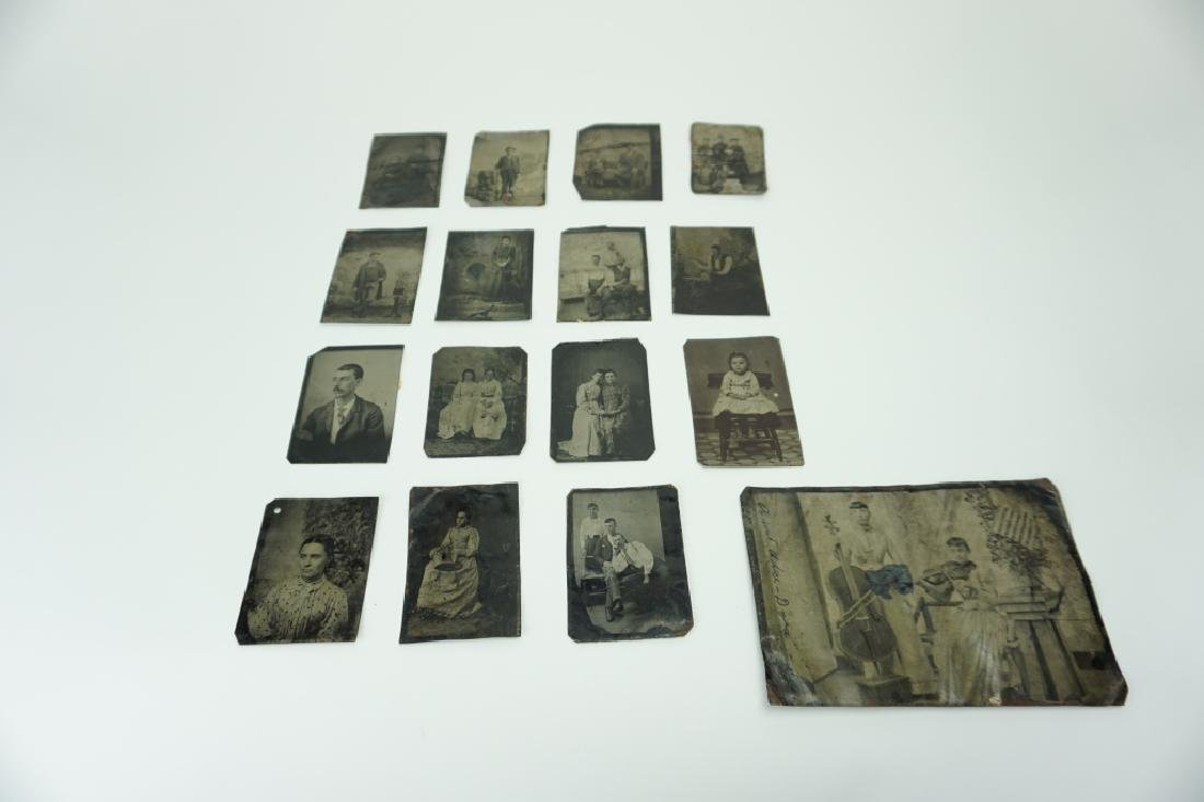 (16) ASSORTED ANTIQUE TIN TYPES